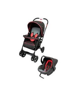 Poussette 4 roues + siège auto Tex Baby