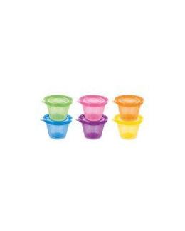 Set de 6 petits pots avec couvercles assortis