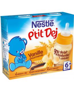 Nestlé P'tit Dej - Brique lait & céréales vanille gourmande