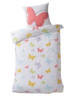 Linge de lit enfant Parure papillons