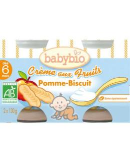 BIO Crème aux fruits Pomme - biscuit 130 g dès 6 mois