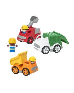 Set 3 camions et 3 figurines