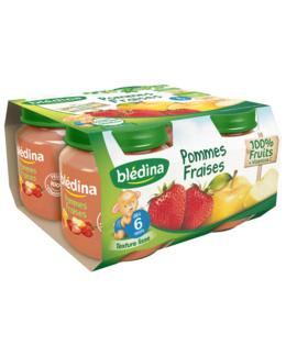 Pot Pommes Fraises 4x130g