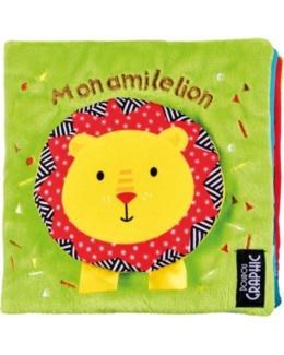 Livre tissu Mon ami le lion