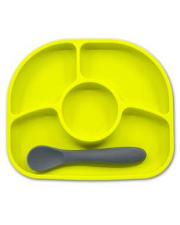 Yümi- Assiette anti-dégât et cuillère en silicone