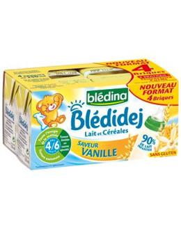 BLÉDINA - Blédidej - Lait céreales van. dès 4 mois 4x250ml