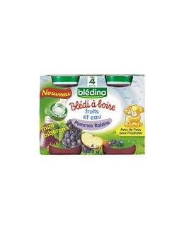 BLEDI A BOIRE Pommes raisins 4x12,5 cl dès 4 mois