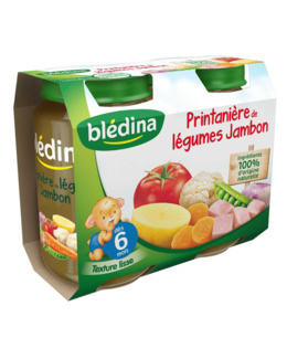 Pot Printanière de légumes Jambon 2x200g