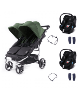 Poussette double Easy Twin 3S Light + 2 coques Cybex Aton 5