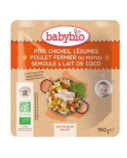 Pois chiches Légumes Poulet fermier du Poitou Semoule Lait de Coco
