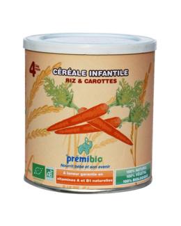 Céréales bio riz et carotte