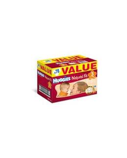 HUGGIES Natural Fit T3 4 9 kg VALUE BOX de 78 couches