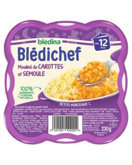 BLEDICHEF Mouliné de carottes et semoule