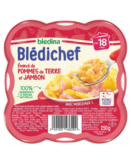 BLEDICHEF Emincé de pommes de terre et jambon