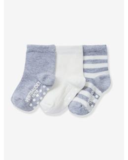 Lot de 3 paires de mi-chaussettes antidérapantes