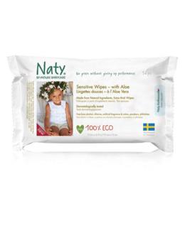 Lingettes douces à l'aloe vera Naty