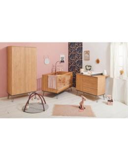 Trio chambre lit, commode, armoire - Ambra