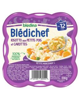 BLEDICHEF Risotto aux petits pois et carottes