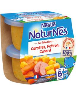 Naturnes- Petits Pots Bébé Carottes, Potiron, Canard