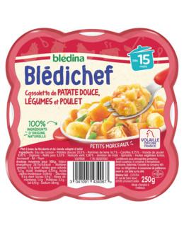 BLEDICHEF Cassolette de patate douce, légumes et poulet