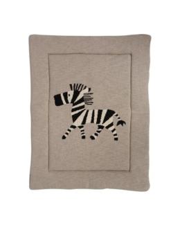 Tapis de parc tricot zèbre