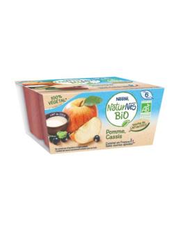 Naturnes BIO VEGETAL Pomme, Cassis, touche de lait de coco