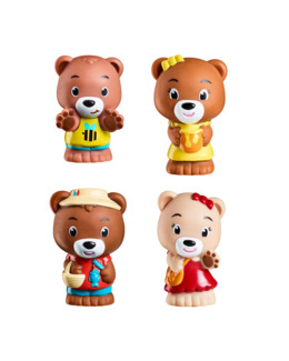 Lot de 4 personnages ours Browny - Klorofil