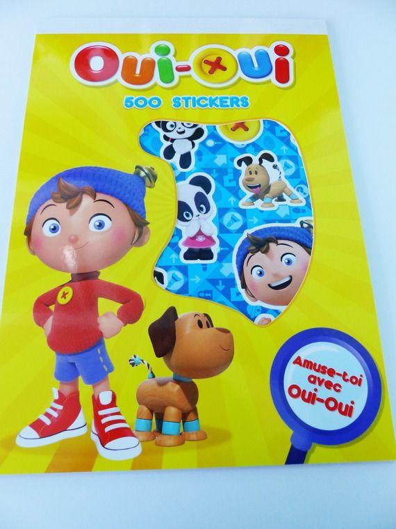 Bloc de 500 gommettes stickers Oui-Oui -