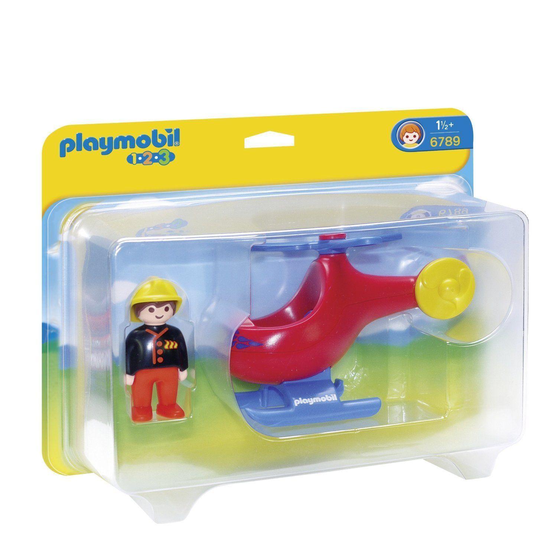 Playmobil 1.2.3 - Pompier avec hélicoptère