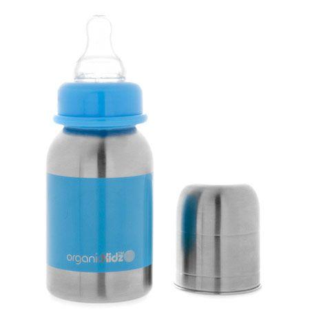 Biberon en inox 120 ml goulot étroit ORGANIC KIDZ