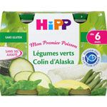 Légumes verts colin d'alaska 190 g dès 6 mois