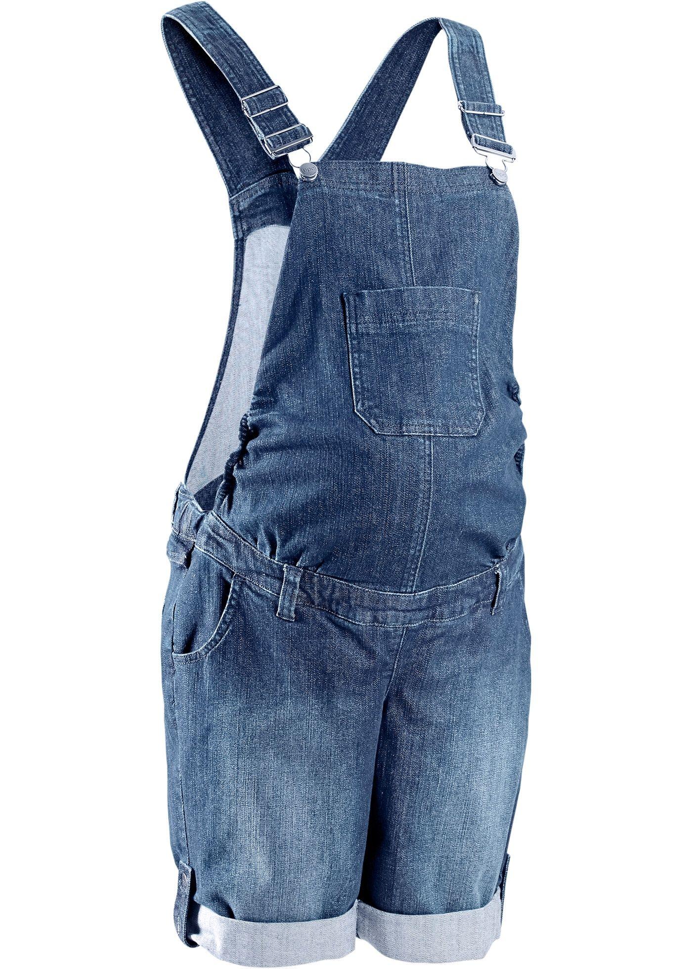 Salopette-short en jean de grossesse - Bon Prix -