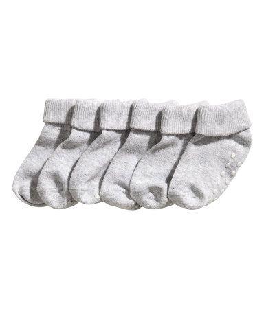 Chaussettes bébé anti-dérapantes (x3)