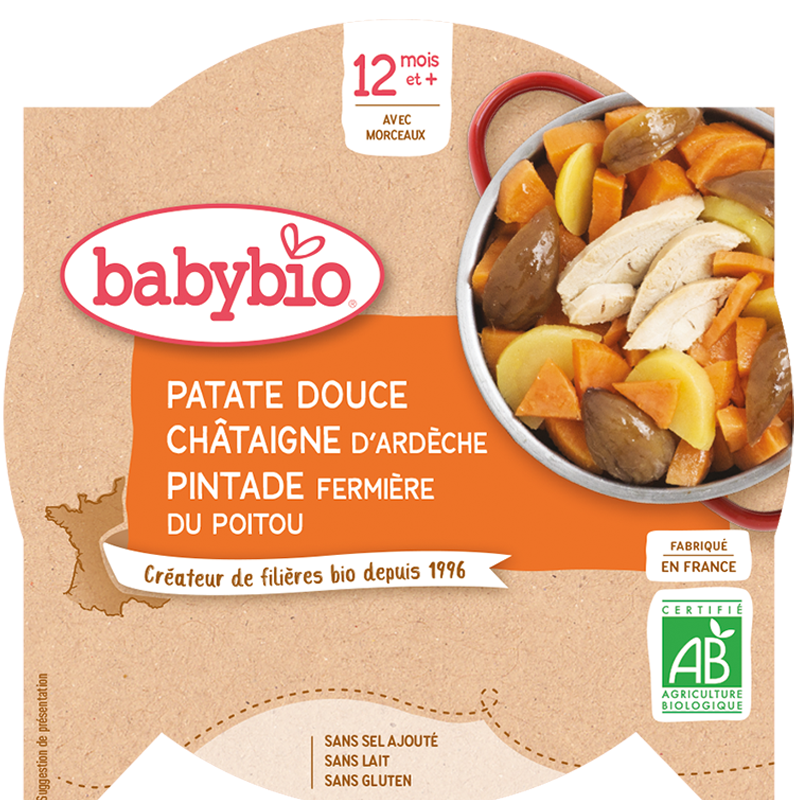 Patate douce Châtaigne d'Ardèche Pintade fermière du Poitou