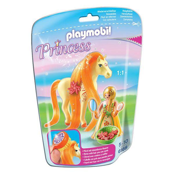 Princesse Mimosa avec cheval à coiffer