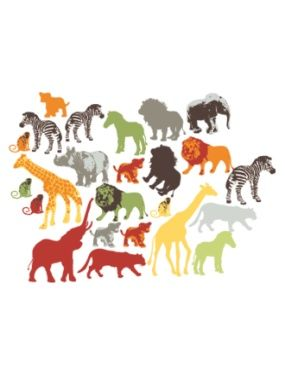 37 stickers animaux de la jungle chambre garcon