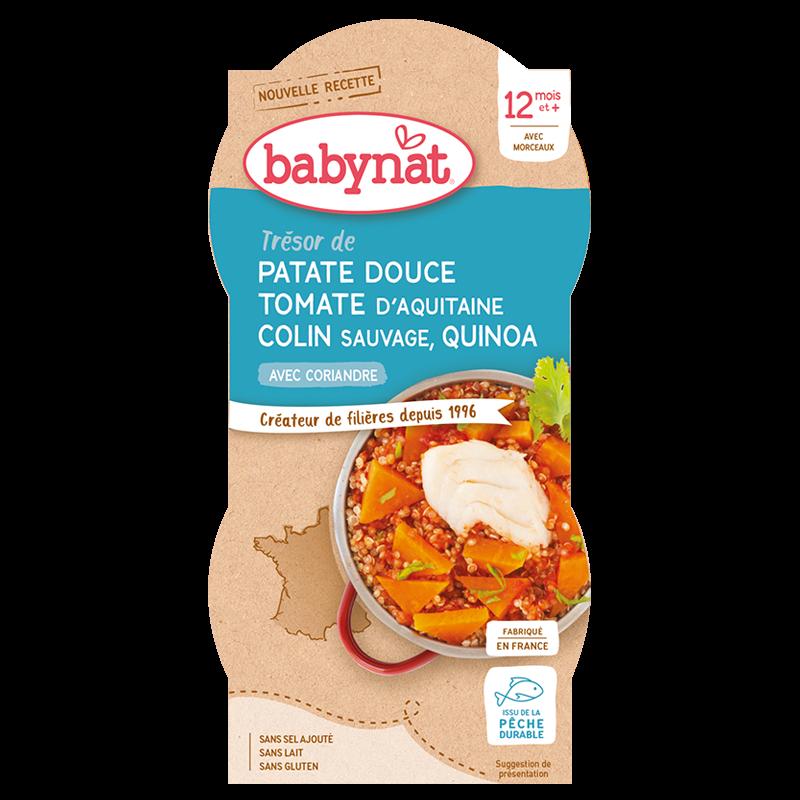Trésor de Patate douce Tomate d'Aquitaine Colin Sauvage & Quinoa à la Coriandre