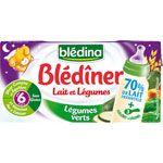 Blédîner Lait et légumes dès 6 mois (sans gluten) BLEDINA