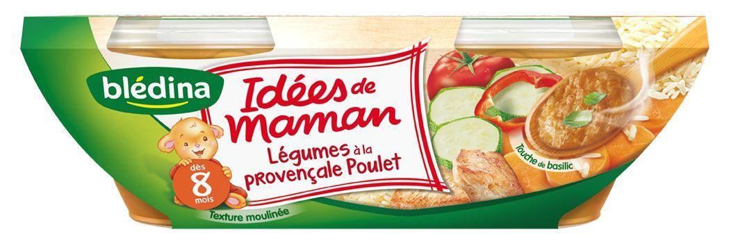 LES IDEES DE MAMAN, Légumes à la provençale poulet et touche de basilic