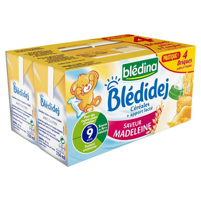 BLEDIDEJ Saveur madeleine 2 x 250 ml dès 6 mois