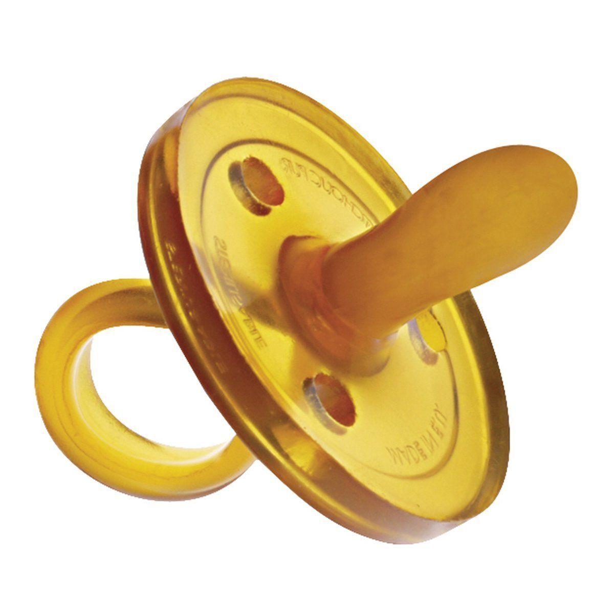 Sucette ovale caoutchouc 6 mois + GOLDI