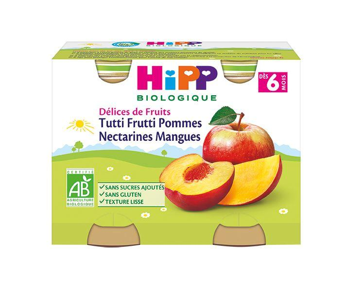 Tutti Frutti Pommes Nectarines Mangues - 2 pots x 190g - dès 6 mois