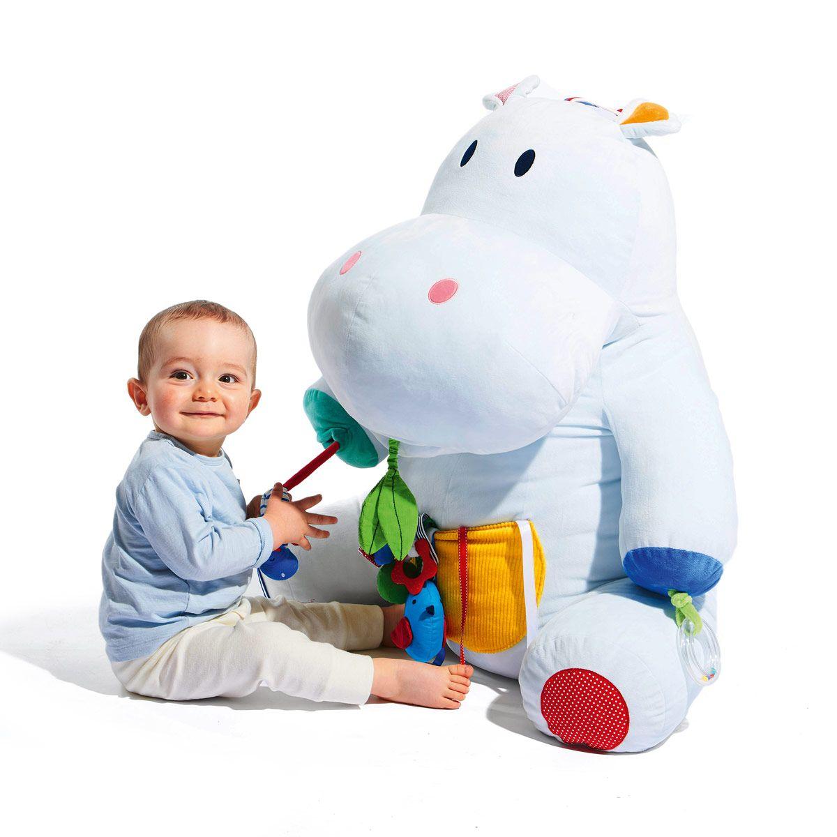 Peluche géante d'activités Axel l'hippopotame