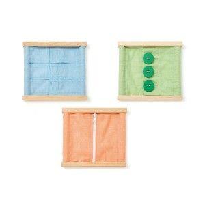 3 Cadres d'habillage pour les petits Ateliers Montessori