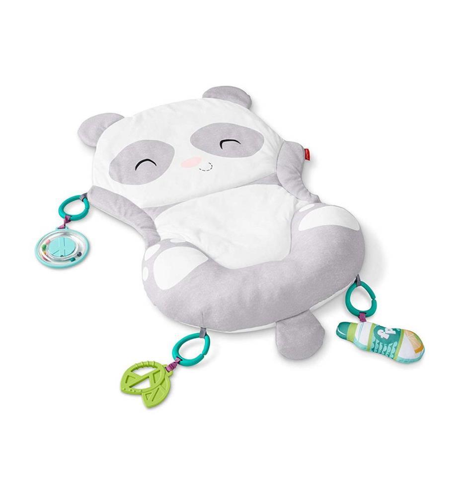 Tapis de jeu panda 2-en-1 avec coussin de jeu