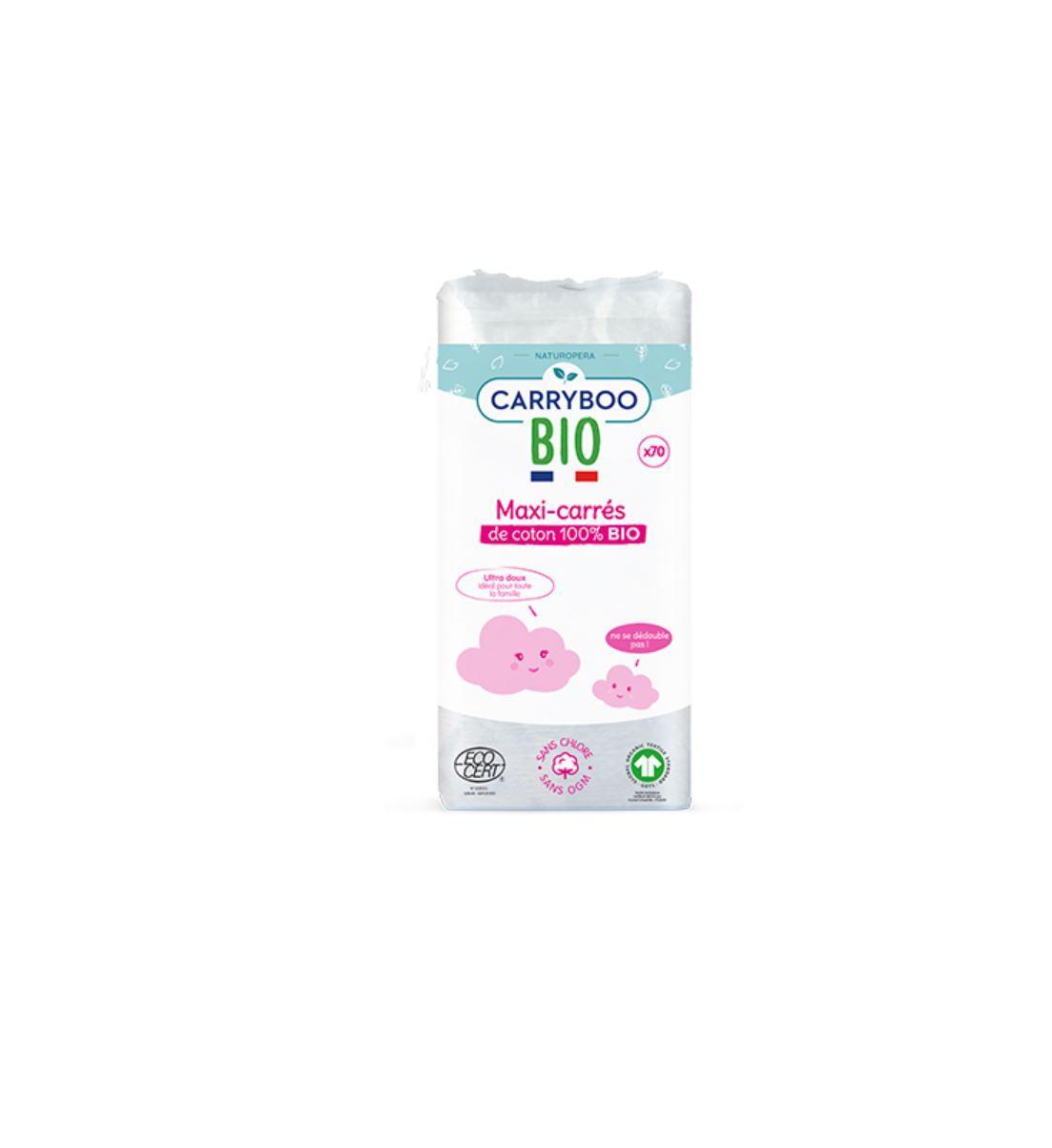 Maxi-Carrés de Coton 100% Bio