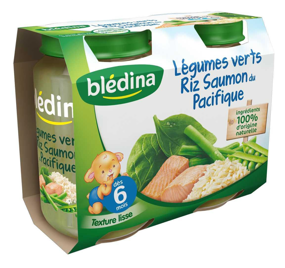 Pot Légumes verts Riz Saumon du Pacifique 2x200g