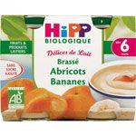 Délices de lait Brassé abricots bananes 160 g dès 6 mois