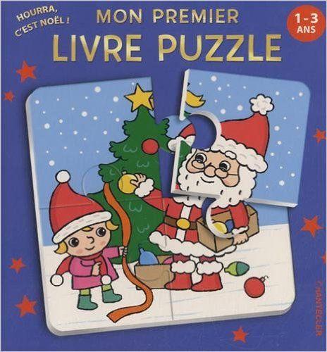 Mon premier livre puzzle 'Hourra c'est Noël !'