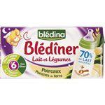 BLEDINER poireaux pommes de terre 2x250 ml dès 6 mois (sans gluten)